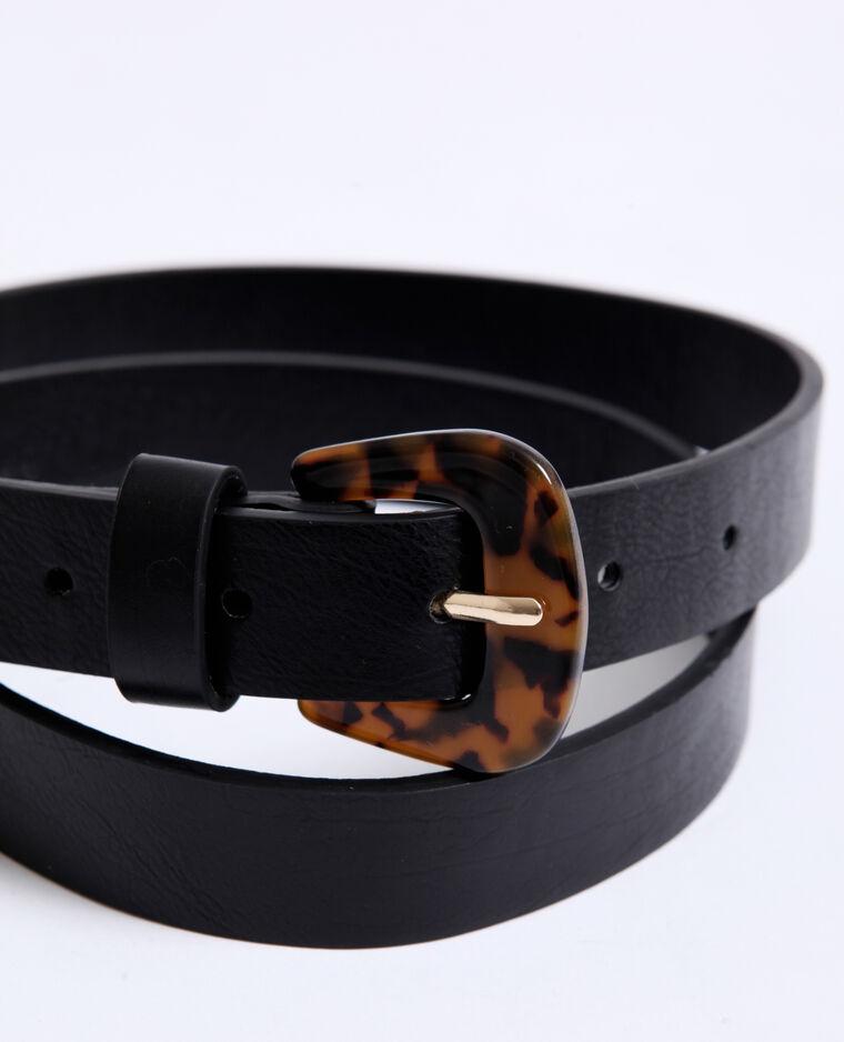 Cintura in similpelle nero