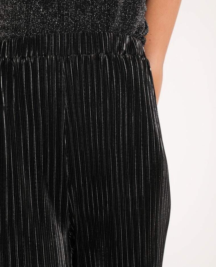 Pantalone a gamba ampia nero