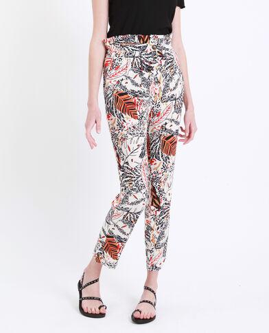 Pantalone stampato bianco