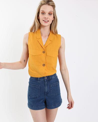 Camicia senza maniche giallo