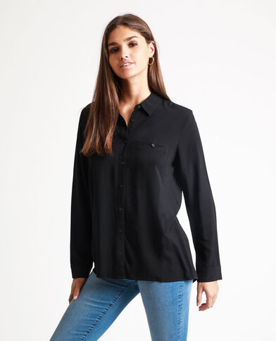 Camicia abbottonata nero