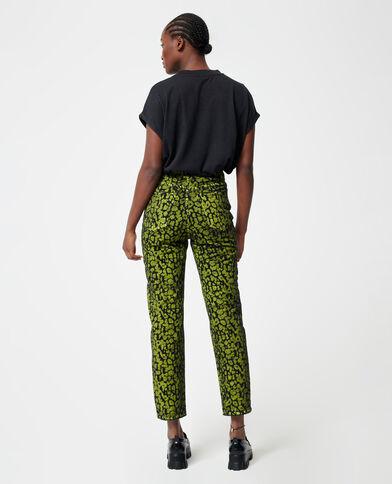 Jeans a vita alta verde acqua - Pimkie