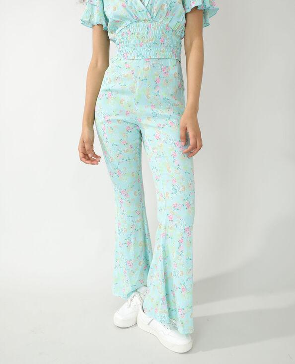 Pantalone a fiori turchese - Pimkie