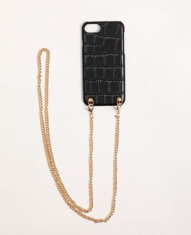 Custodia con tracolla compatibile con iPhone nero