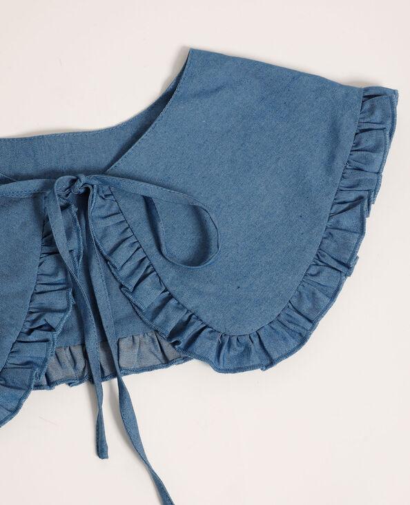 Maxi collo da annodare di jeans blu - Pimkie