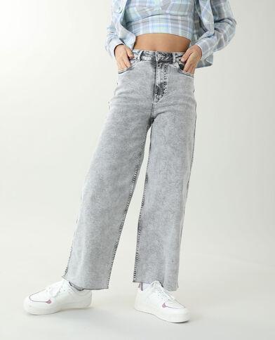 Jeans wide leg grigio - Pimkie