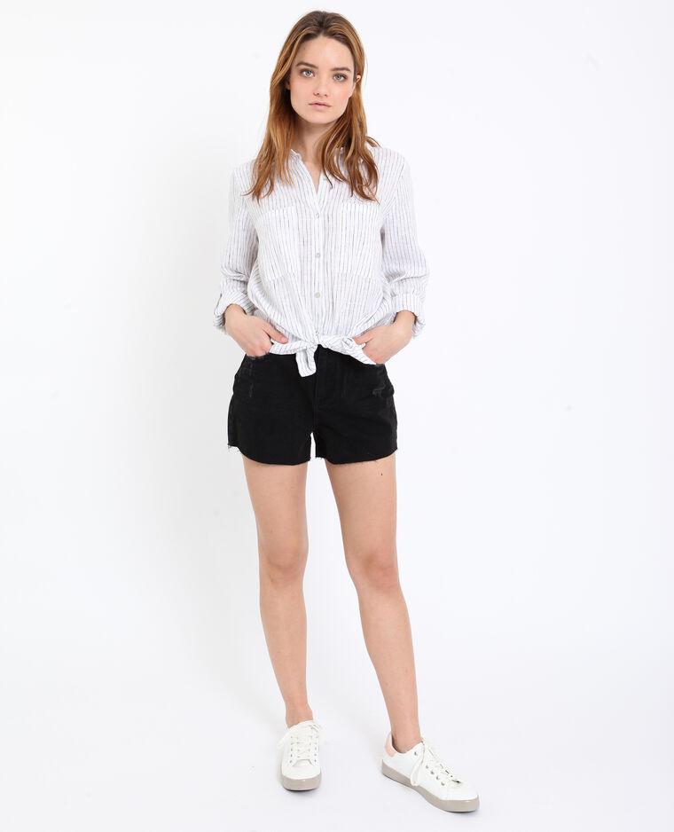 Short in jeans high waist nero