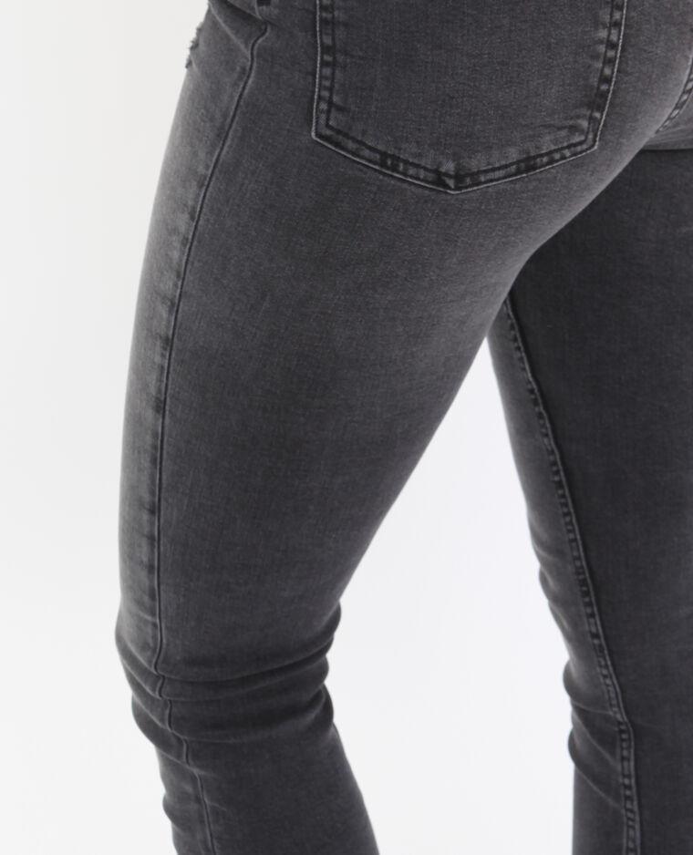 Jeans skinny high waist grigio antracite