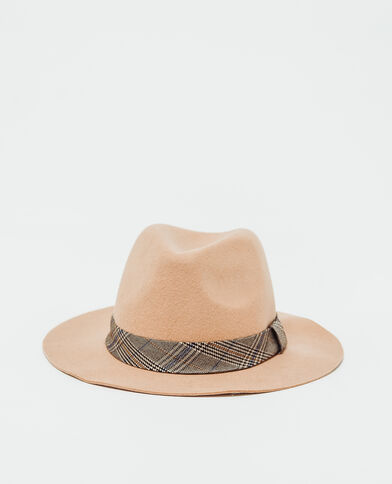 Cappello in feltro cammello