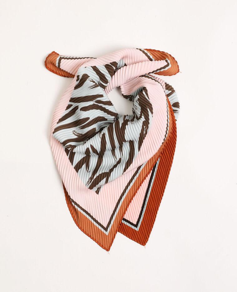 Foulard plissettato marrone