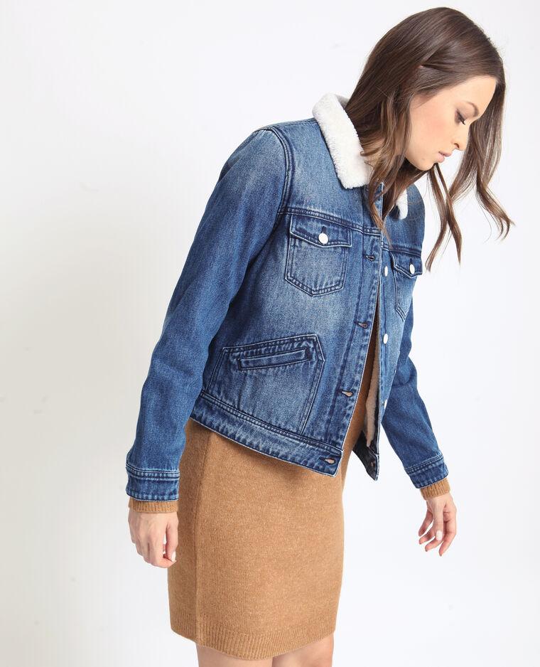 Giacca in jeans imbottita blu denim