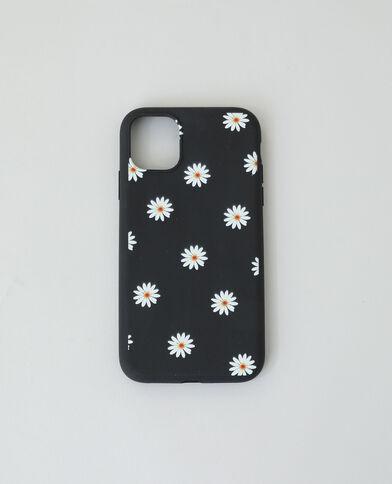 Custodia compatibile con iPhone nero + giallo
