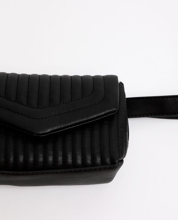 Borsa a cintura trapuntata nero