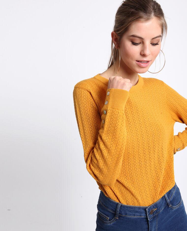 Pull traforato giallo