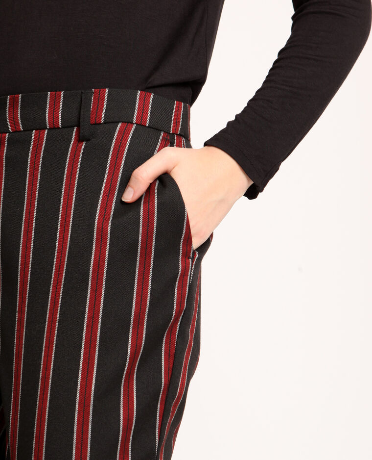Pantalone city a righe nero