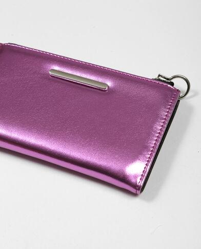 Portafoglio metallizzato rosa fucsia