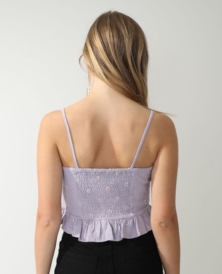 Top a fiori viola - Pimkie