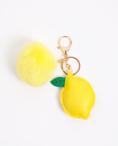 Portachiavi limone giallo