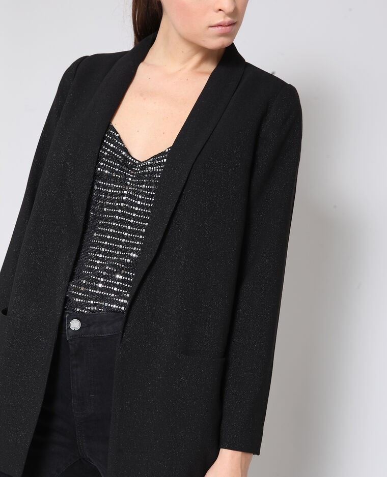 Blazer brillante nero
