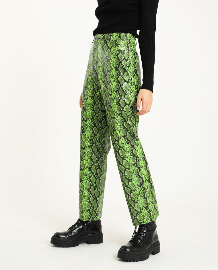 Pantalone in similpelle verde
