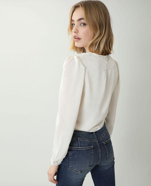 Camicia satinata bianco sporco - Pimkie