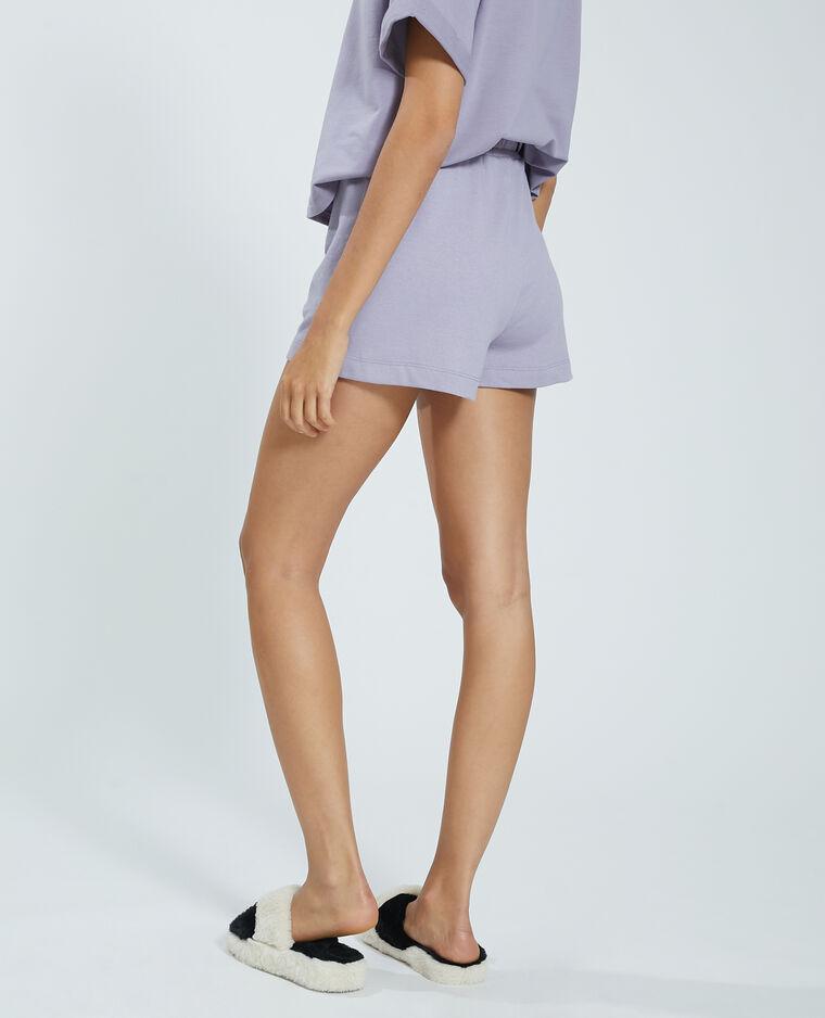 Short in tessuto felpato viola - Pimkie