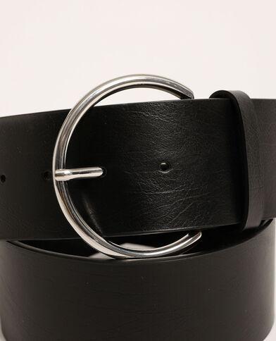 Cintura larga in similpelle nero - Pimkie
