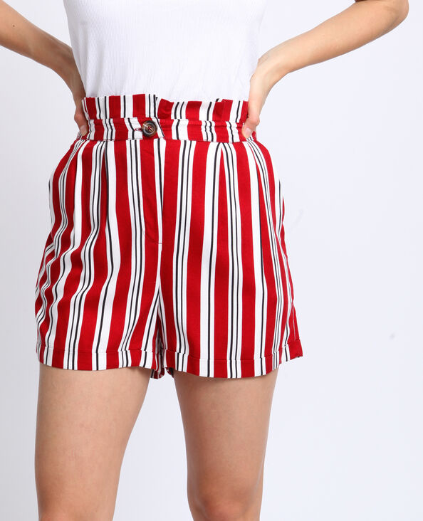 Short a righe écru
