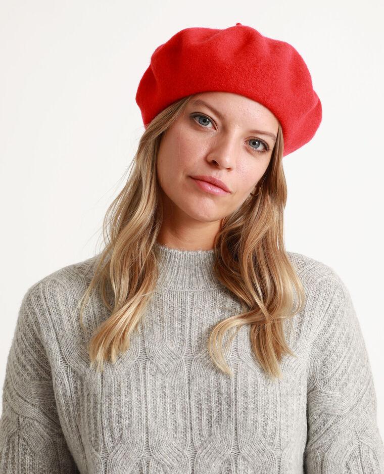 Basco in lana bordeaux