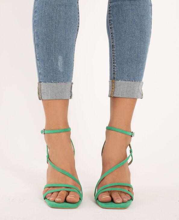Sandali con tacco verde