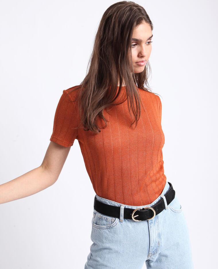 T-shirt brillante arancio