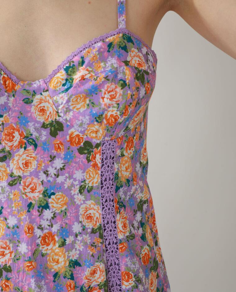 Abito a fiori viola - Pimkie