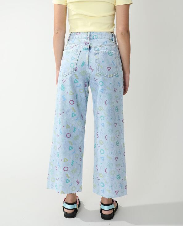 Jeans wide leg high waist fantasia blu chiaro - Pimkie
