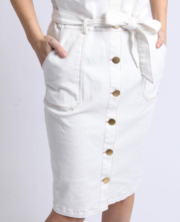 Abito in jeans bianco