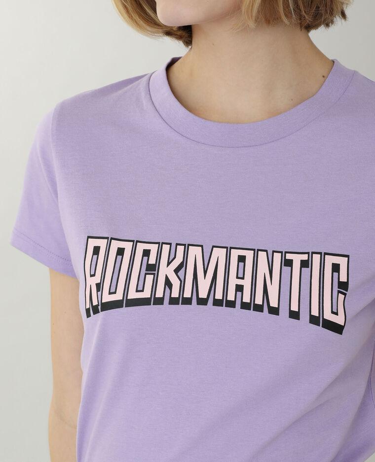 T-shirt con scritta viola - Pimkie