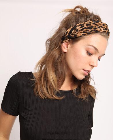 Headband leopardata marrone