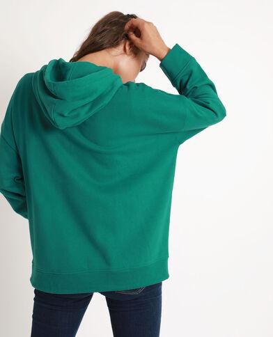 Felpa con cappuccio oversize verde