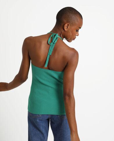 Top con schiena scoperta verde