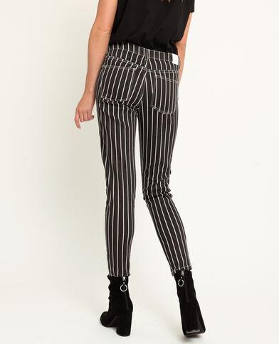 Pantalone a 5 tasche a righe bianco