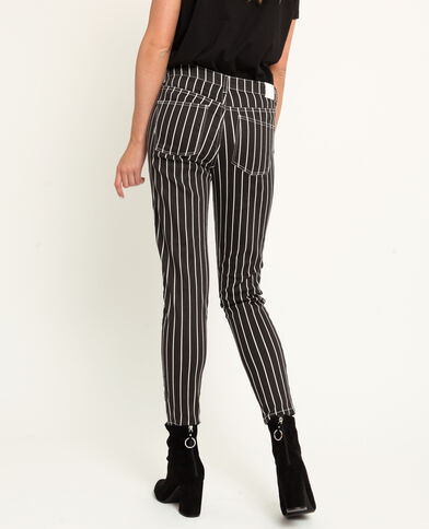 Pantalone a 5 tasche a righe nero