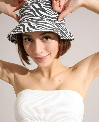 Cappello bob zebrato bianco