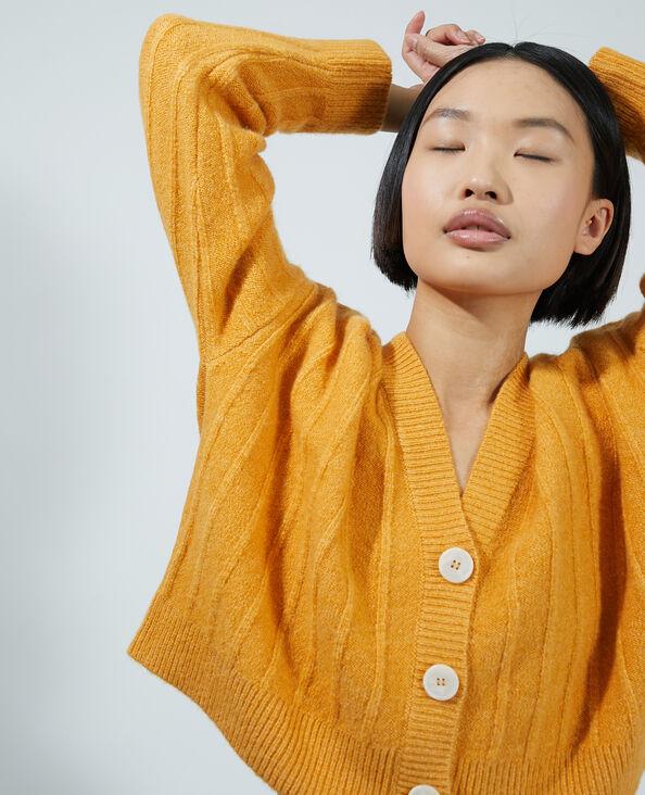 Cardigan corto arancio - Pimkie