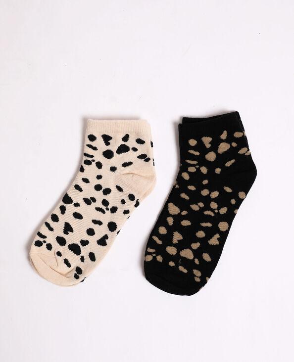 Lotto da 2 paia di calzini beige