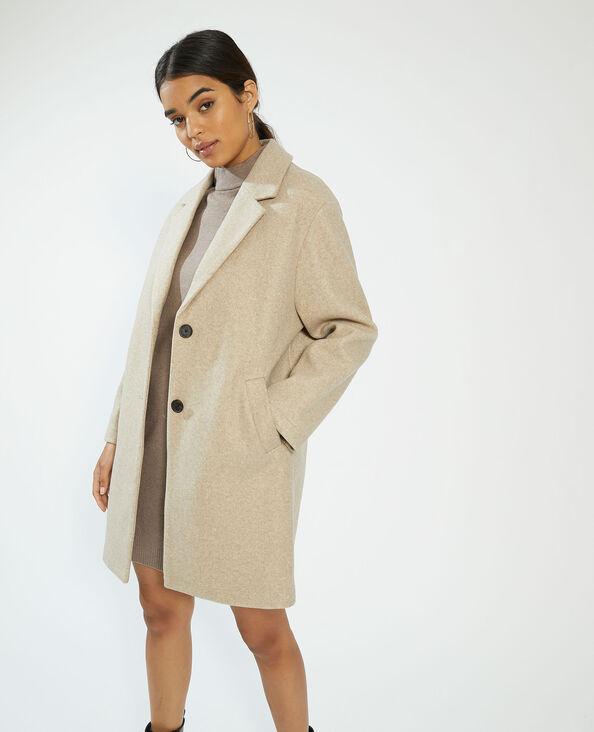 Cappotto lungo beige - Pimkie