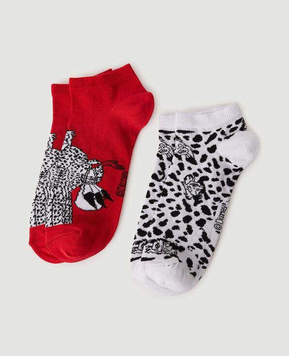 Lotto di 2 paia di calzini Crudelia bianco - Pimkie