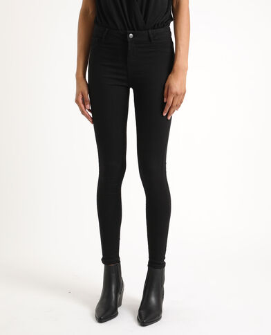 Jeggings mid waist nero