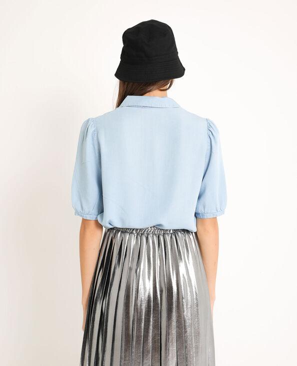Camicia morbida blu