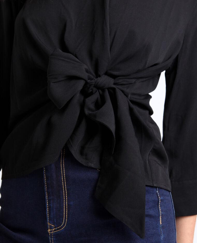 Blusa tinta unita nero