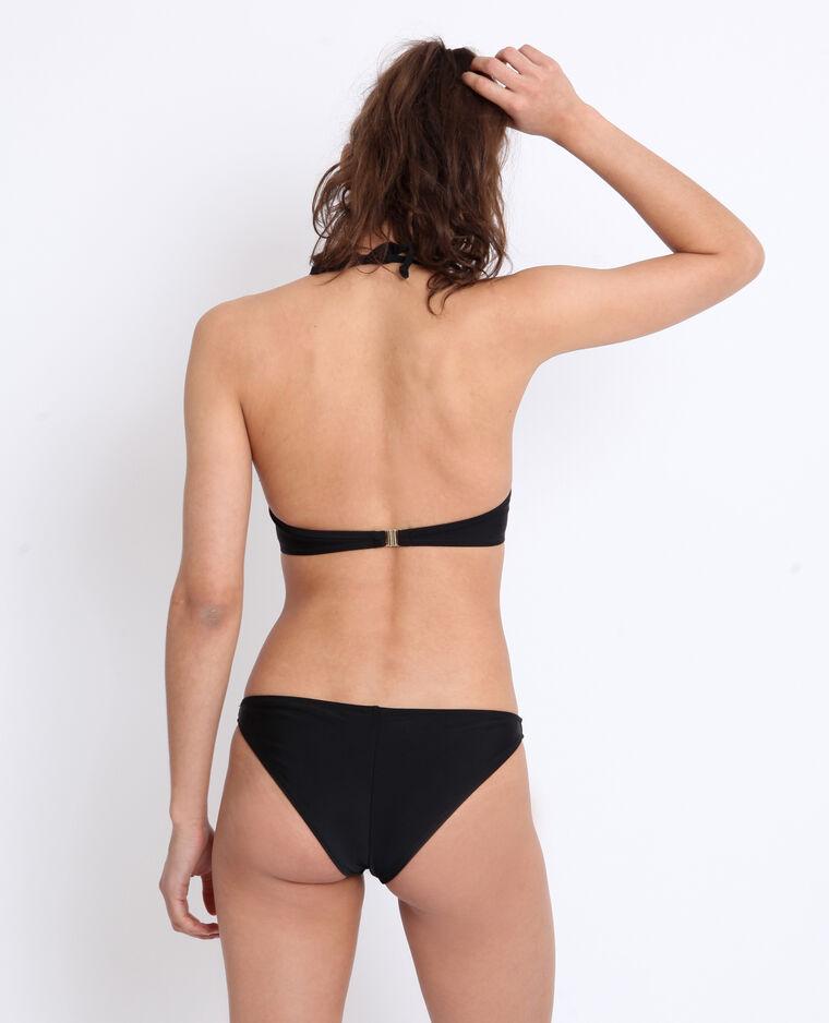 Pezzo sopra di bikini con volant nero