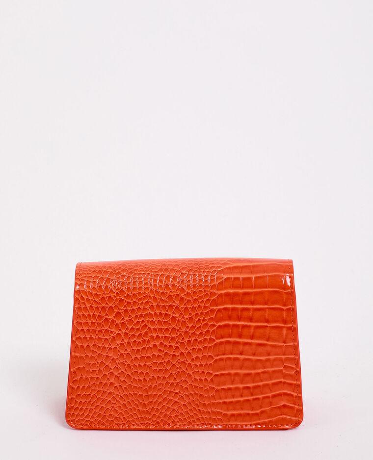 Borsa effetto coccodrillo arancio